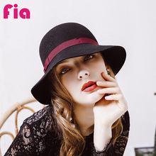 Фотография FIA New 100% Wool Vintage Women Lady Cute Trendy Woolen Fedora Hat Cap Winter Spring Hats Caps ZZ4105