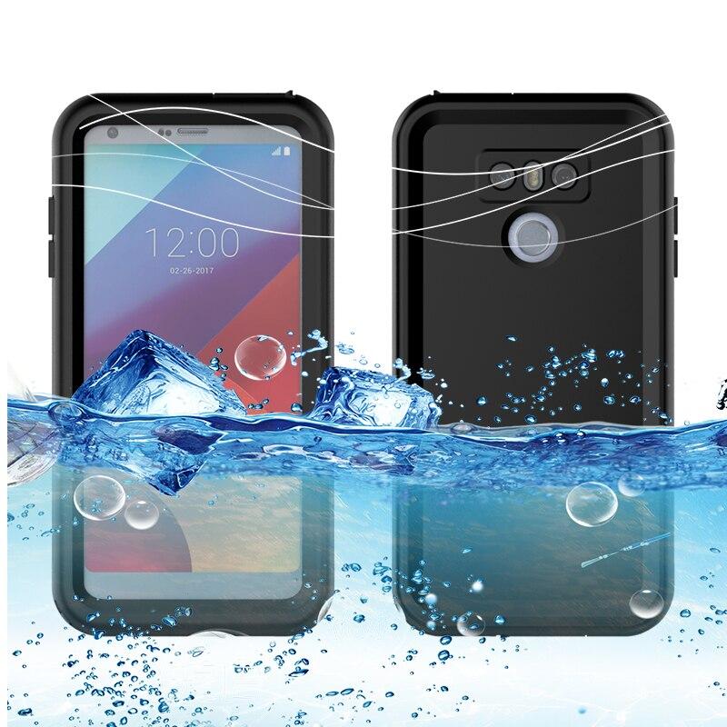 Luxo ip68 real caso à prova dip68 água para lg g6 sob prova de água coque natação mergulho capa para lg g6 caso telefone livre suportes