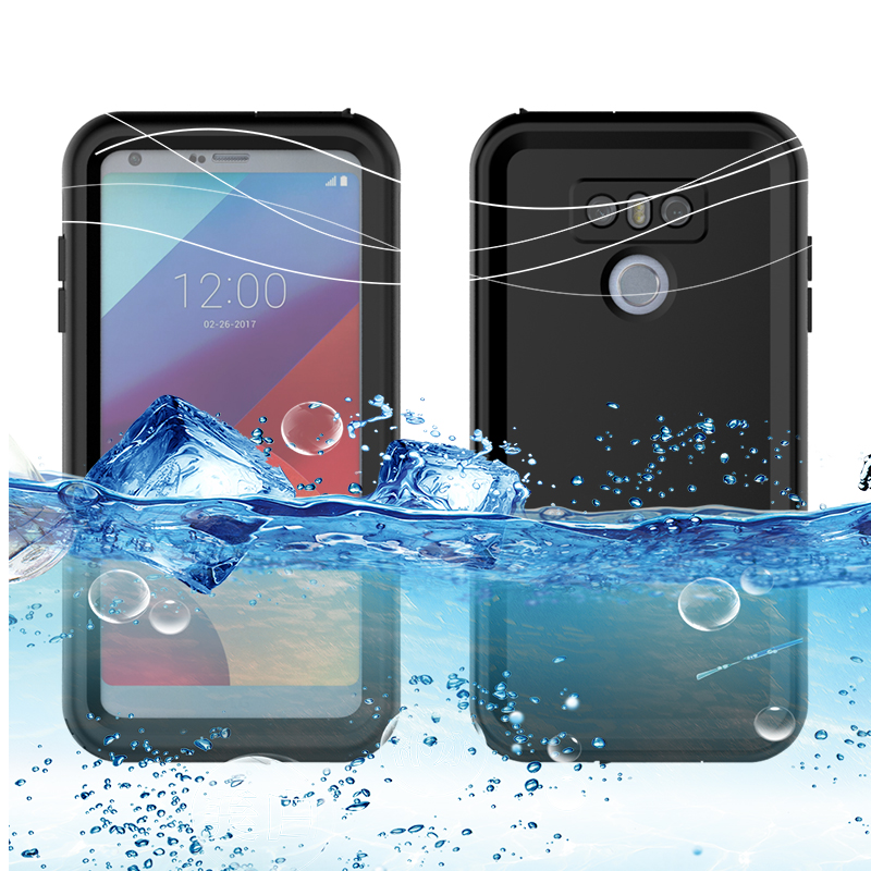Luxury IP68 Real Waterproof Case For LG G6 Under Water Proof Coque Swimming Diving Cover For LG G6 Phone Case Free Phone Holders image