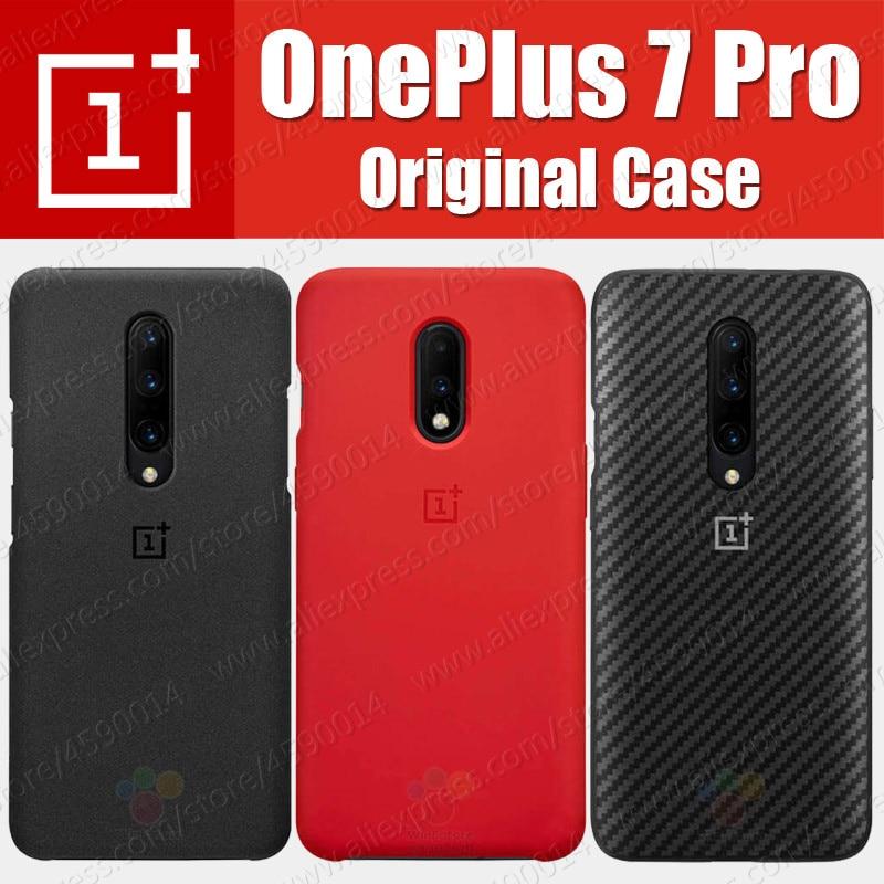 Precios al por mayor (producto) Original 100% Oneplus 7 Pro funda Oneplus 7 funda de silicona cubierta de Stock oficial Sandstone Karbon