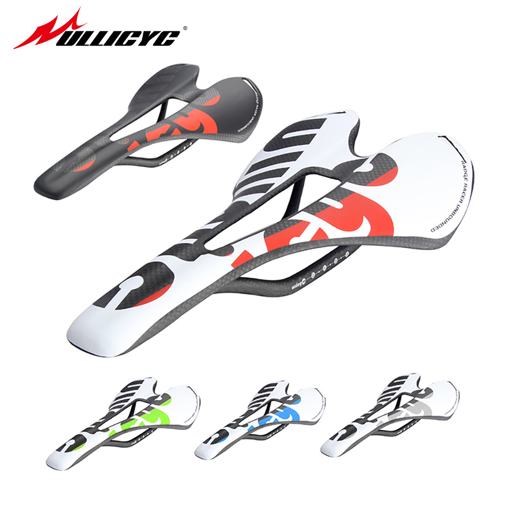 new colorful Ullicyc top-level mountain bike full carbon saddle road bicycle saddle MTB front sella sillin seat matround ZD143 full fiber road folding mountain bike parts bicycle 271 143mm sillin carbono mtb pu cushion front seat for carbon saddle