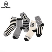 [COSPLACOOL]New cool cashmere winter socks warm casual novelty socks men character cotton calcetines meias men nylon socks
