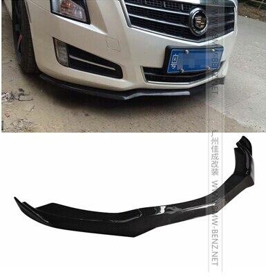 ATS D3 carbon fiber auto front bumper front lip Splitter spoiler apron lip fits:2012 2015