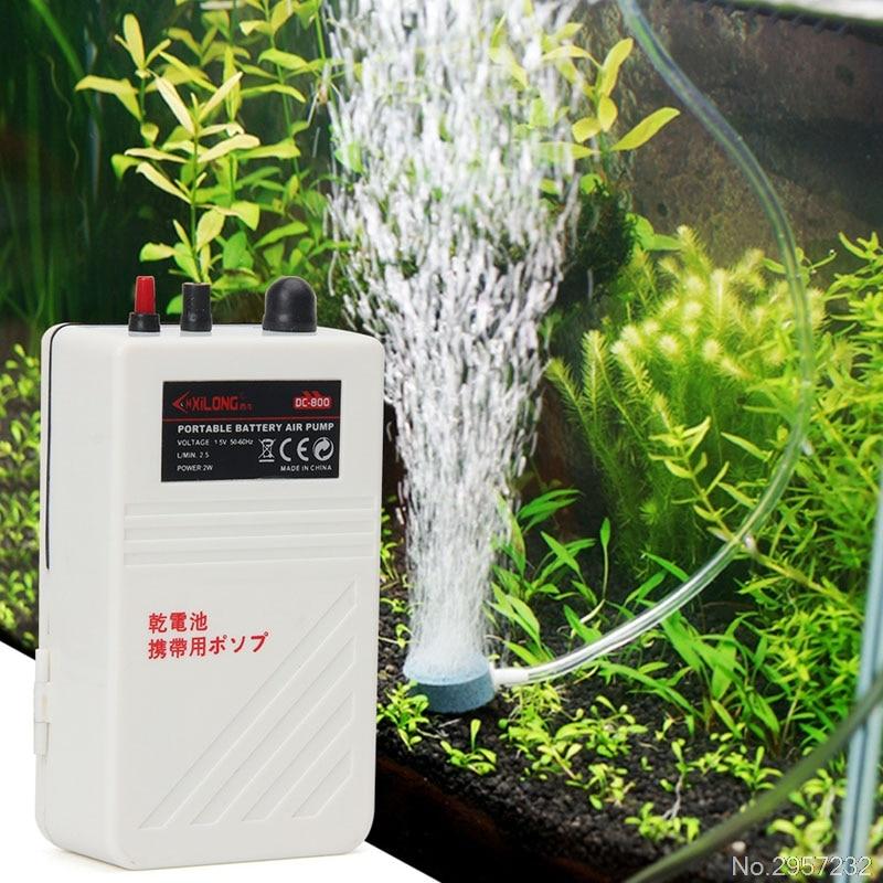 Aquarium Air Pump Single Outlet Silent Fish Tank <font><b>Battery</b></font> Operated Oxygen Pump <font><b>Aerator</b></font> Compressor 2W #K918C# Drop Ship