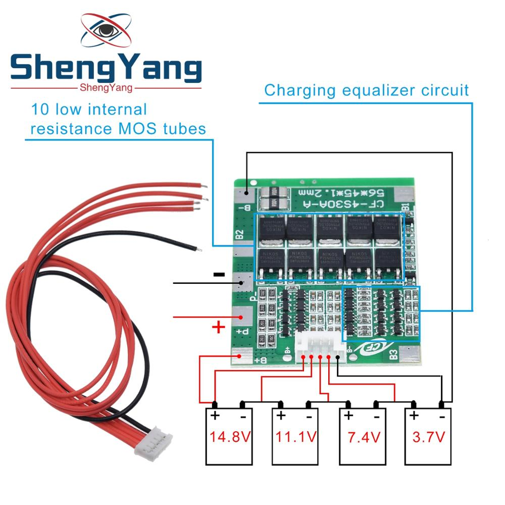 New Arrival 4S 30A 14.8V Li-ion Lithium 18650 Battery BMS Packs PCB Protection Board Balance Integrated Circuits(China)