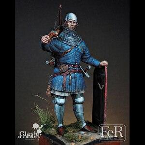 Image 1 - 1/24 Resina Personaggio Dei Cartoni Animati Modello di Guerra Antica Francese Balestra 75mm