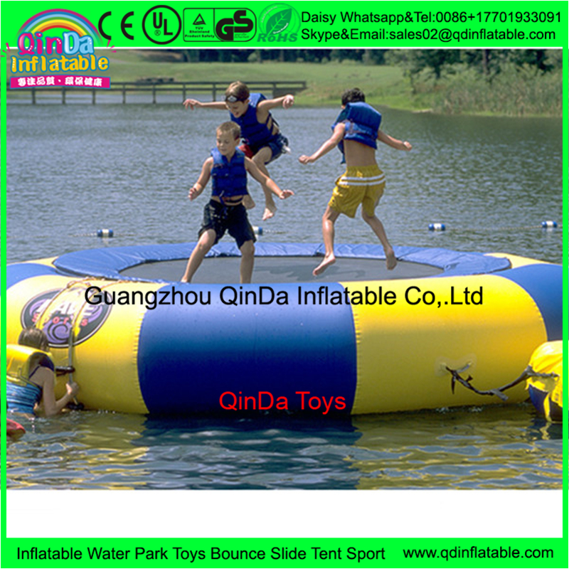 Trampoline outdoor park inflatable jumping bed,inflatable trampoline sock,water trampoline with air pump