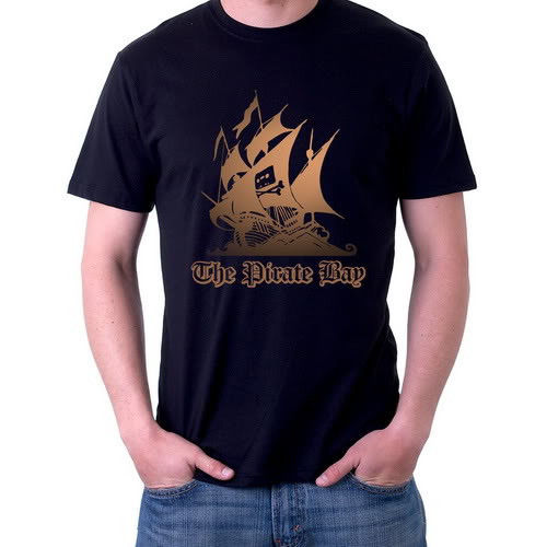 The Pirate Bay T-Shirt, Torrent Seeder-Leechers Tees Size S,M,L,XL,2XL,3XL