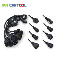 OBD2 Full Set 8 Truck Cables Work For TCS Cdp Pro Plus OBDII OBD 2 Connecter