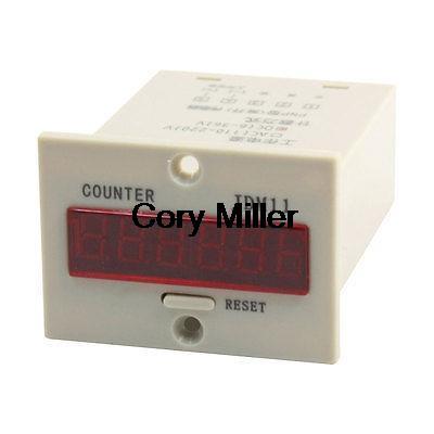 JDM11-6H Resettable 6-Digits LED Display Panel Digital Counter DC 24V