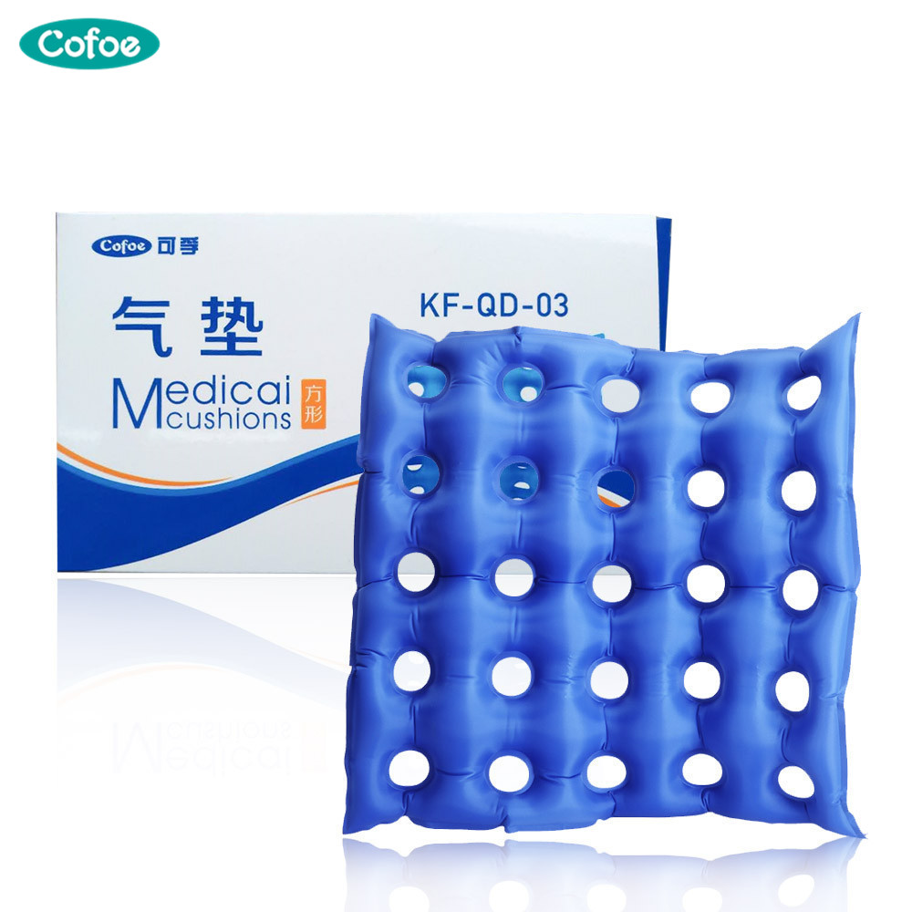 Cofoe Medical Home Seat Cushion Inflatable Cushion Wheelchair Square Round Anti-hemorrhoids Buttocks Massage Bedsore Prevention