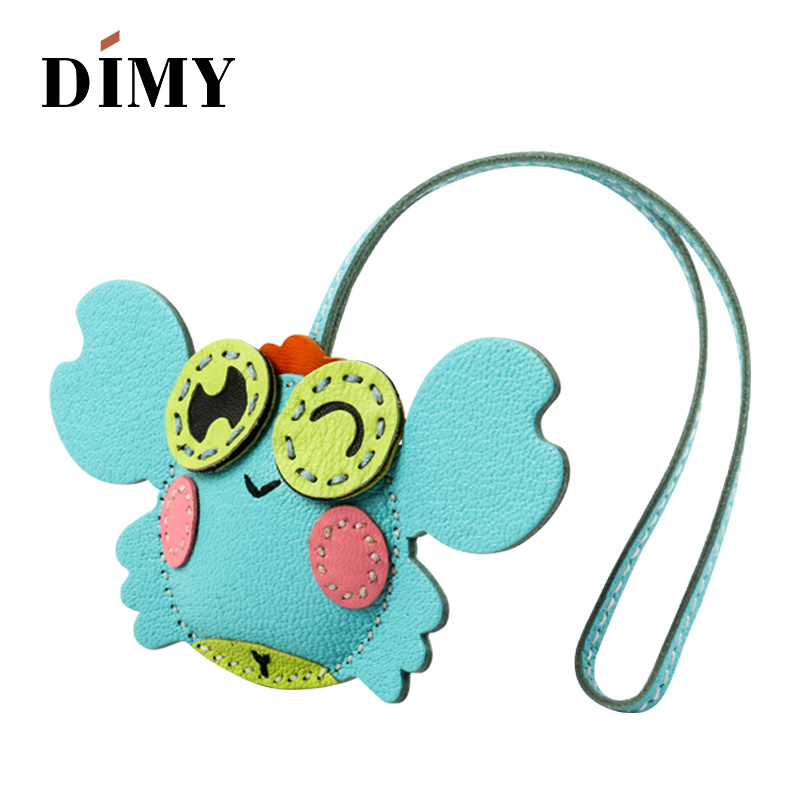 Dimy Handmade Lambskin Leather crab Women's Bag Charm pendant handbag Equestrian purse charm Key Holder decoration keyring