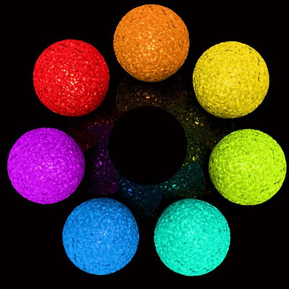 Hot Sale New Arrival 7 Colors Changing Crystal Ball LED Electronic Luminous Toy Ball Light Toy Multiple Color High Quality