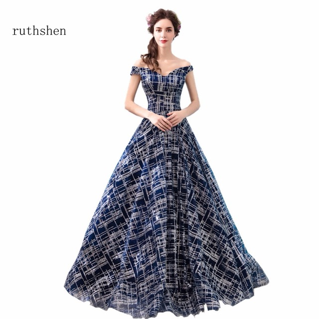ruthshen Prom Dresses A Line Floor Length Party Dresses Arabic Dubai ...