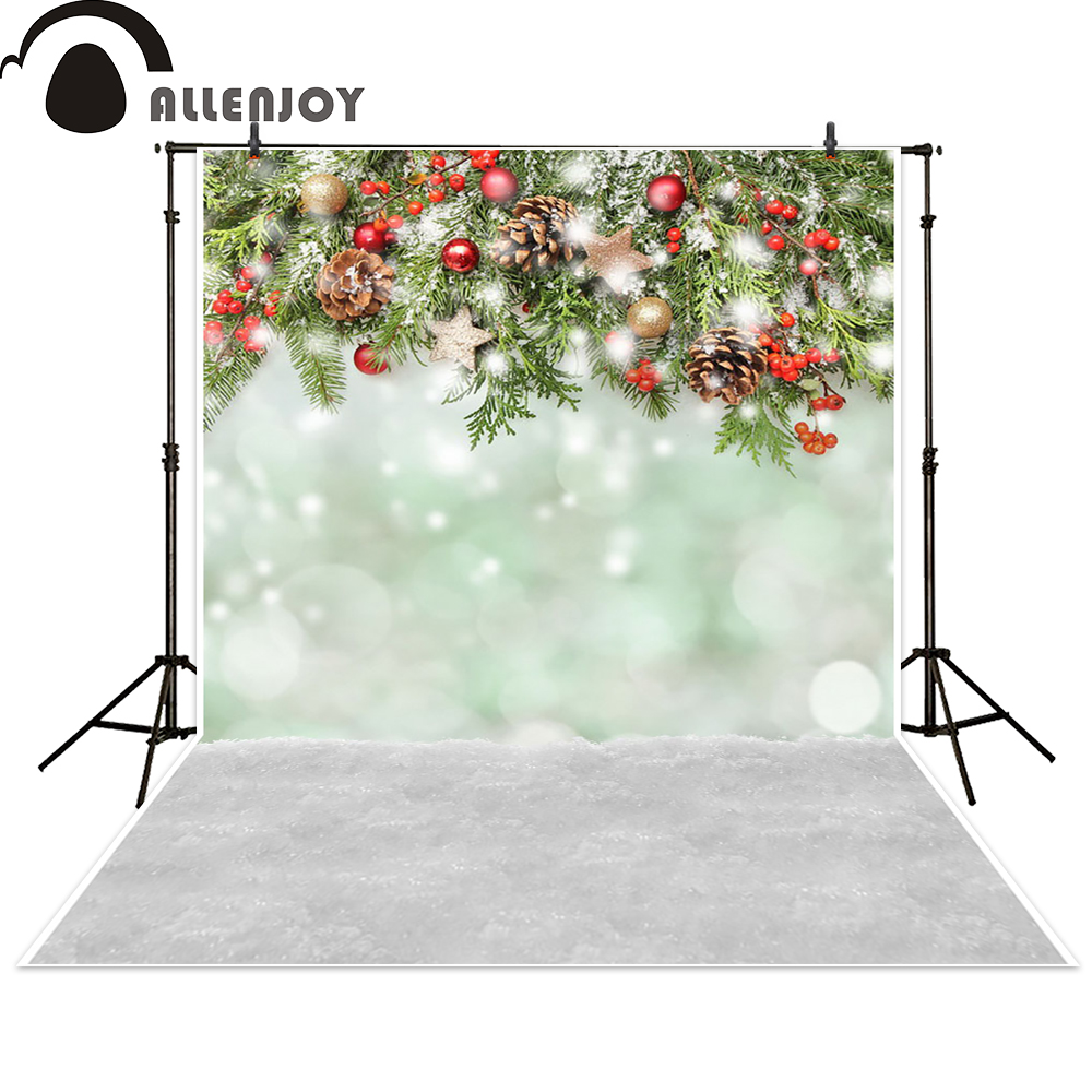 Allenjoy photo backdrops Christmas snow celebrate bokeh background photocall photographic photo studio photobooth fantasy photographic studio background white clouds blue dinette chinese style new born professional xmas photocall background pictures