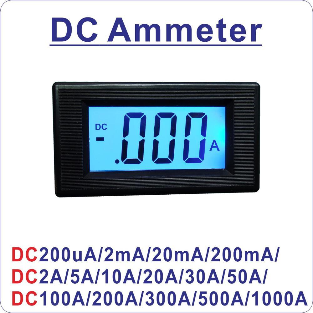 YB5135D LCD Digital DC Current Meter DC 200mA 2A 5A 10A 20A 50A 100A ...