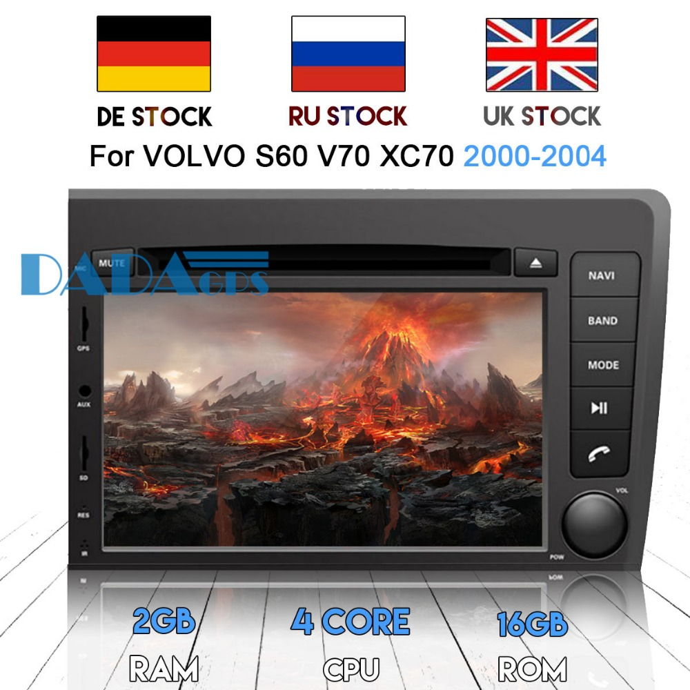 2 DIN Android 7.1 Car Radio DVD Player GPS Navigation for <font><b>VOLVO</b></font> S60 V70 <font><b>XC70</b></font> 2000-2004 Car Stereo Headunit Multimedia Audio Auto image