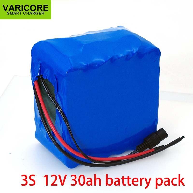 VariCore 12V 30Ah 3S12P 11.1V 12.6V High power Lithium Battery Pack for Inverter Xenon Lamp Solar Street Light Sightseeing Car