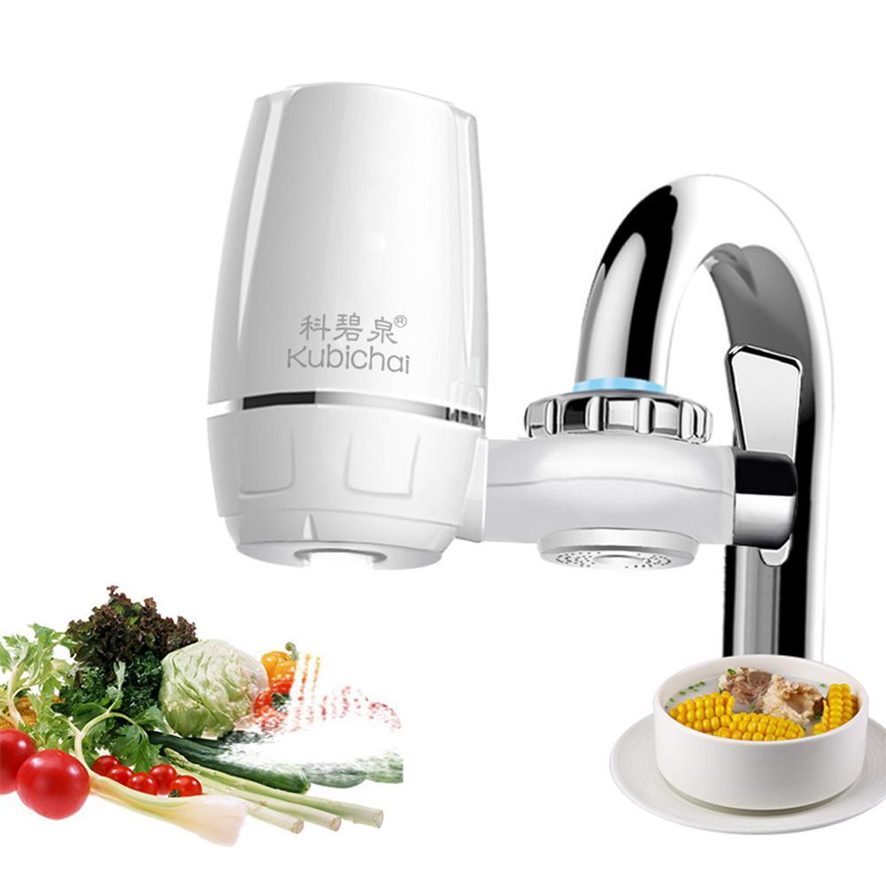 Изысканный Водоочиститель кран фильтр для воды с керамическим фильтром кухонный элемент кухонные принадлежности фильтрующий элемент - Цвет: white