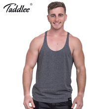 Taddlee Brand Men's Cotton Tank Top Tshirts Sleeveless Singlets Stringer Casual Solid Pure Fitness Bodybuilding Undershirts Gasp