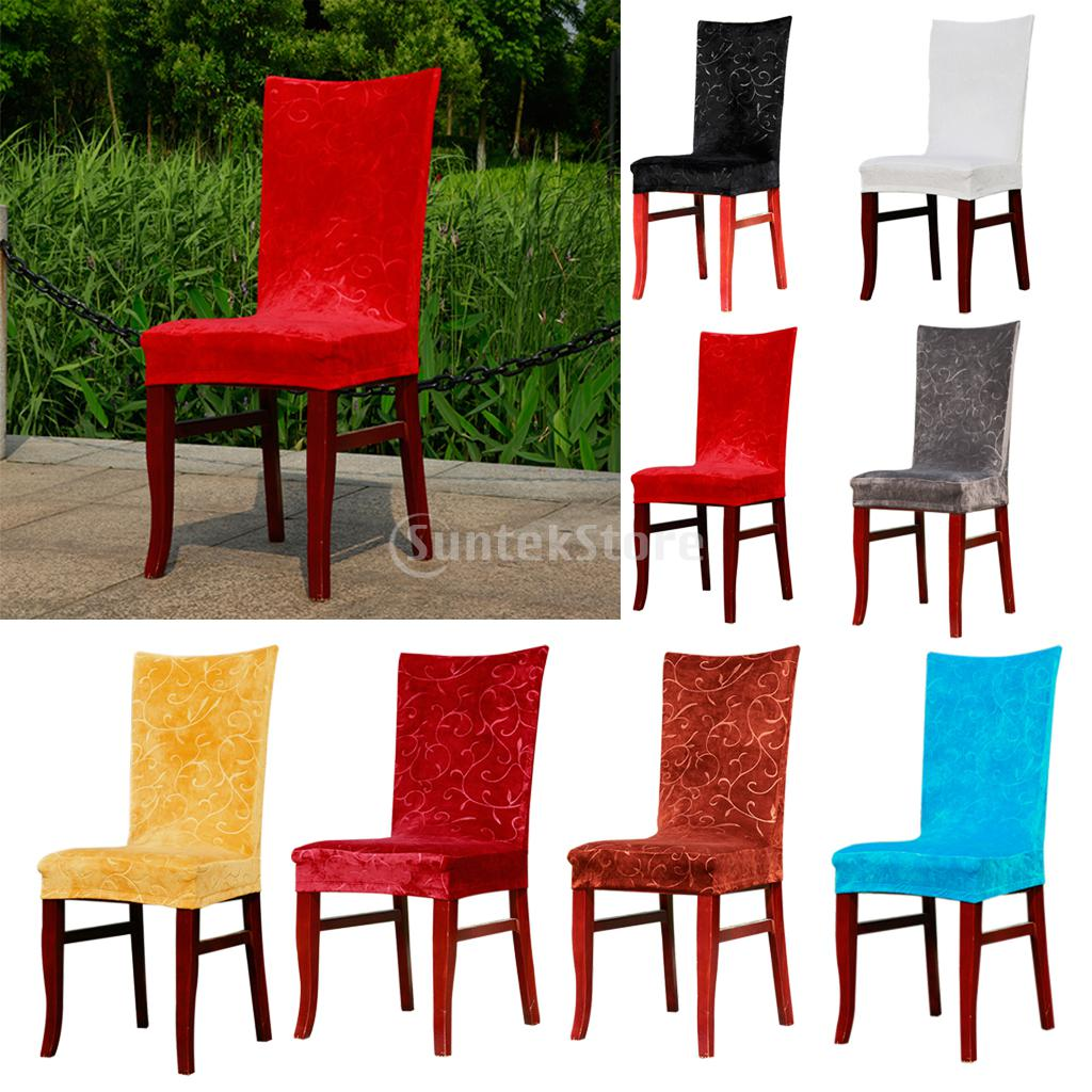 Foral Pattern Super Stretch Short Fox Fabric Dining Room Chair Cover Slipcover Machine Washable 8 Color
