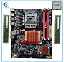 New motherboard x58  with E5640 CPU+8G(4G*2) RAM 6*USB2.0 port support ecc ram  LGA 1366 DDR3 ATX mainboard  free shipping