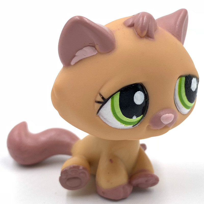 Rare Animal Pet Shop Lps Toys STANDARD Orange Cat #1710 With Green Eyes Cute Anime Toys For Kids