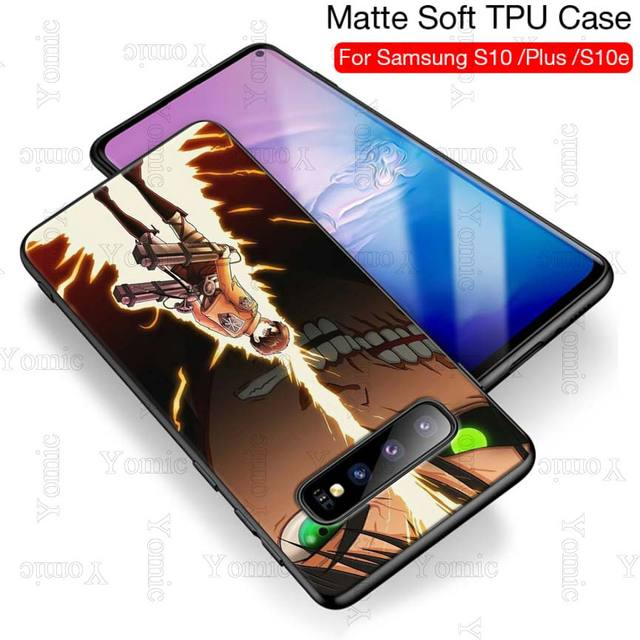 Attack on Titan Silicone Phone Case for Samsung Galaxy S Series