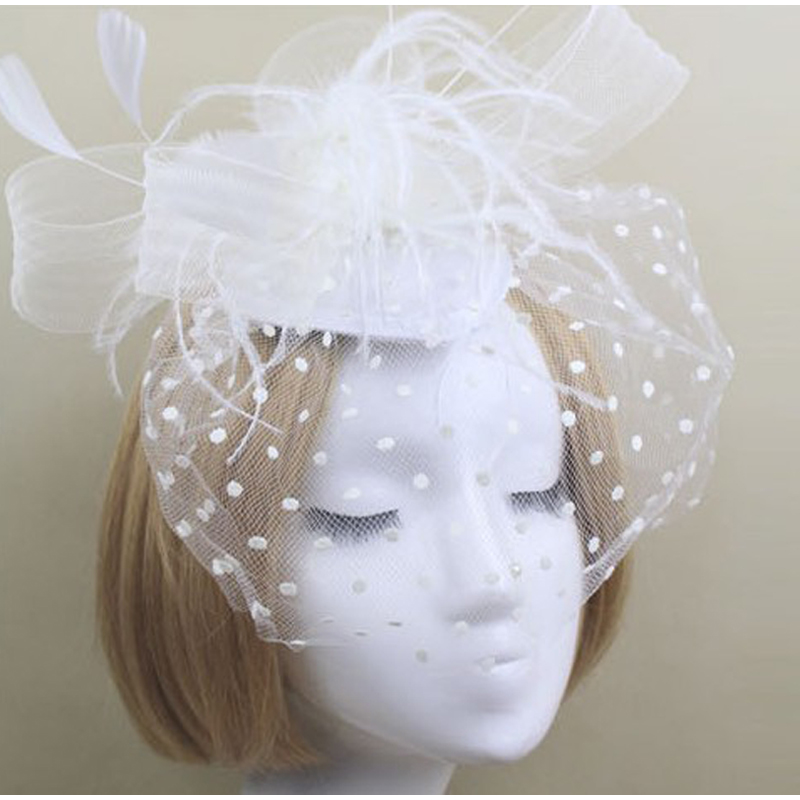 Fascinators Hat Women Flower Mesh Ribbons Feathers Fedoras Hat Headband Clip Cocktail wedding Tea Party Headwewar for Girls in Women 39 s Fedoras from Apparel Accessories