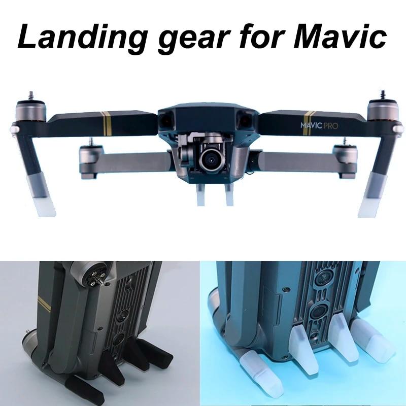 4pcs Soft Landing Gear Kits For Dji Mavic Pro Platinum Drone Silicone Leg Feet Heightened Extender Guard Protector Spare Parts Landing Gear Aliexpress