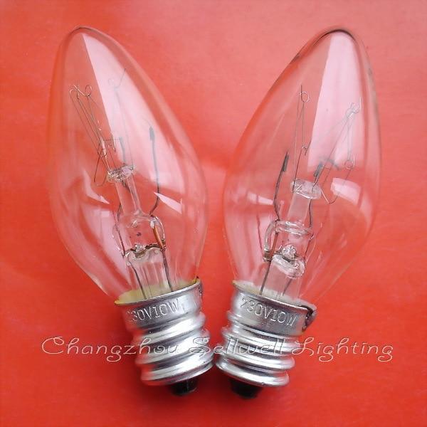 Miniatűr izzó 230v 10w e12 t22x55 A578 JÓ 10db jól eladható világítás