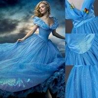 Kelebek Kız Mavi Prenses Elbise Pageant Kız Toddler Genç Çocuk Giyim Çocuk Kostüm Partisi Külkedisi Elsa Elbise