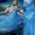 Muchachas de la mariposa Azul Princesa Vestidos Del Desfile Niñas Niño Menor de Ropa Infantil Niños Del Partido Del Traje de Cenicienta Vestido de Elsa