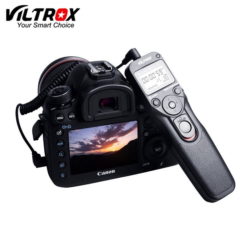 VILTROX Timer Remote Control Shutter Time Lapse Intervalometer with
