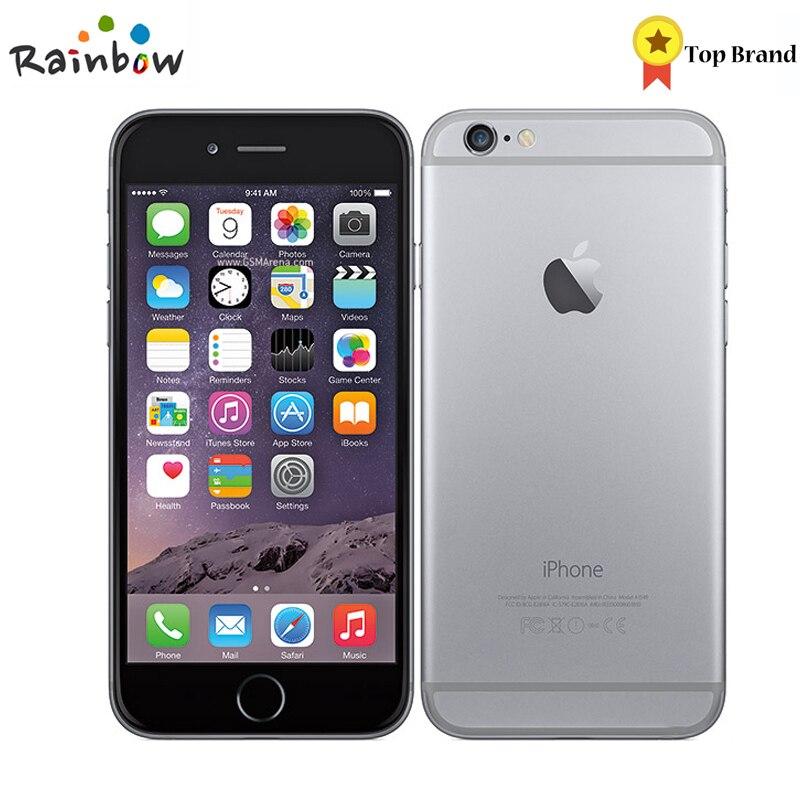 Desbloqueado IOS Da Apple iPhone 6 1 GB de RAM 4.7 polegadas Dual Core 1.4 GHz telefone Câmera de 8.0 MP 3G WCDMA 4G LTE Usado 16/64/128 GB ROM