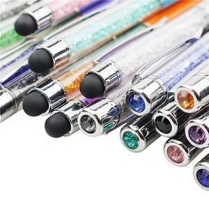 Image 4 - 卸売 100 個ボールペンクリスタルダイヤモンド装飾ペン 0.7 ミリメートルペン先すべて金属材料学生ライティングオフィスギフトペン