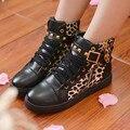 Sapatos de cunha calçados Casuais da mulher 2016 floral altas mulheres top sapatos plus size 4.5-9