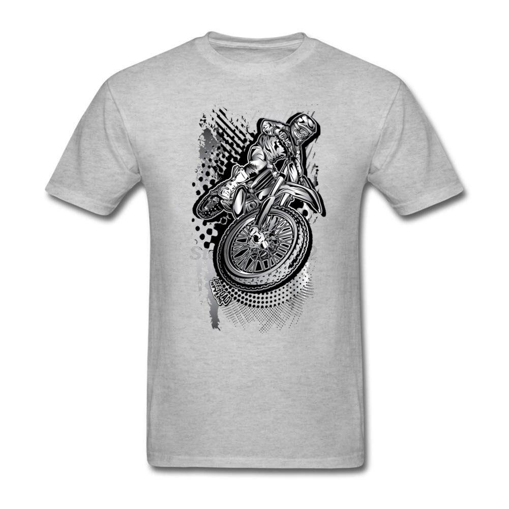 Man MX Dirt Bikin' Grunge Music T-Shirt Kawaii Crazy Motor Rider Short-sleeved Yellow T-shirt For Men Clothing Natural Cotton