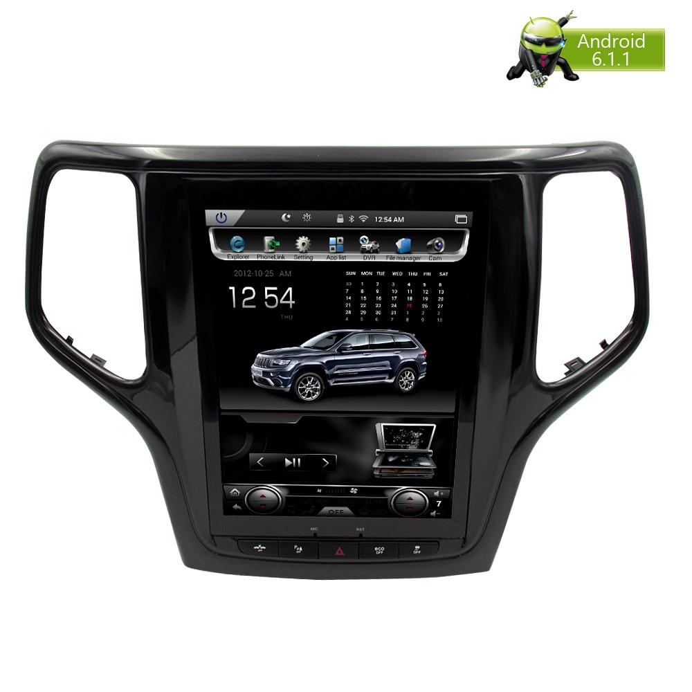 Verticale Dello Schermo di Android 7.1 Car DVD GPS Glonass Navigazione Radio Player per Jeep Grand Cherokee 2013-2016 RAM 2 gb 32g Stereo