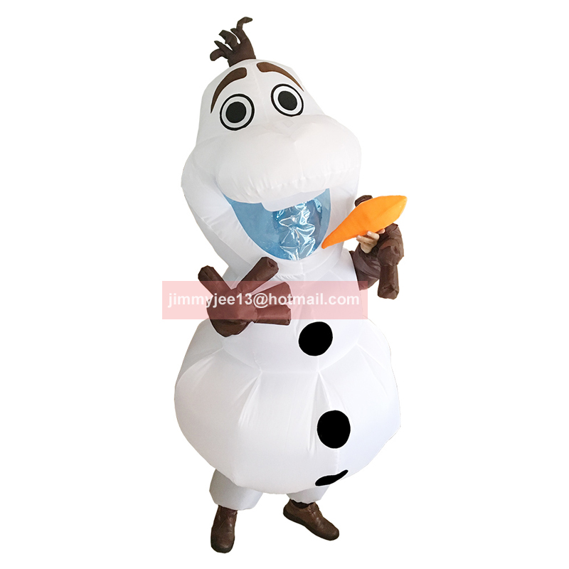Frozen Olaf Snowman Costume for Halloween Adult Men Women ...