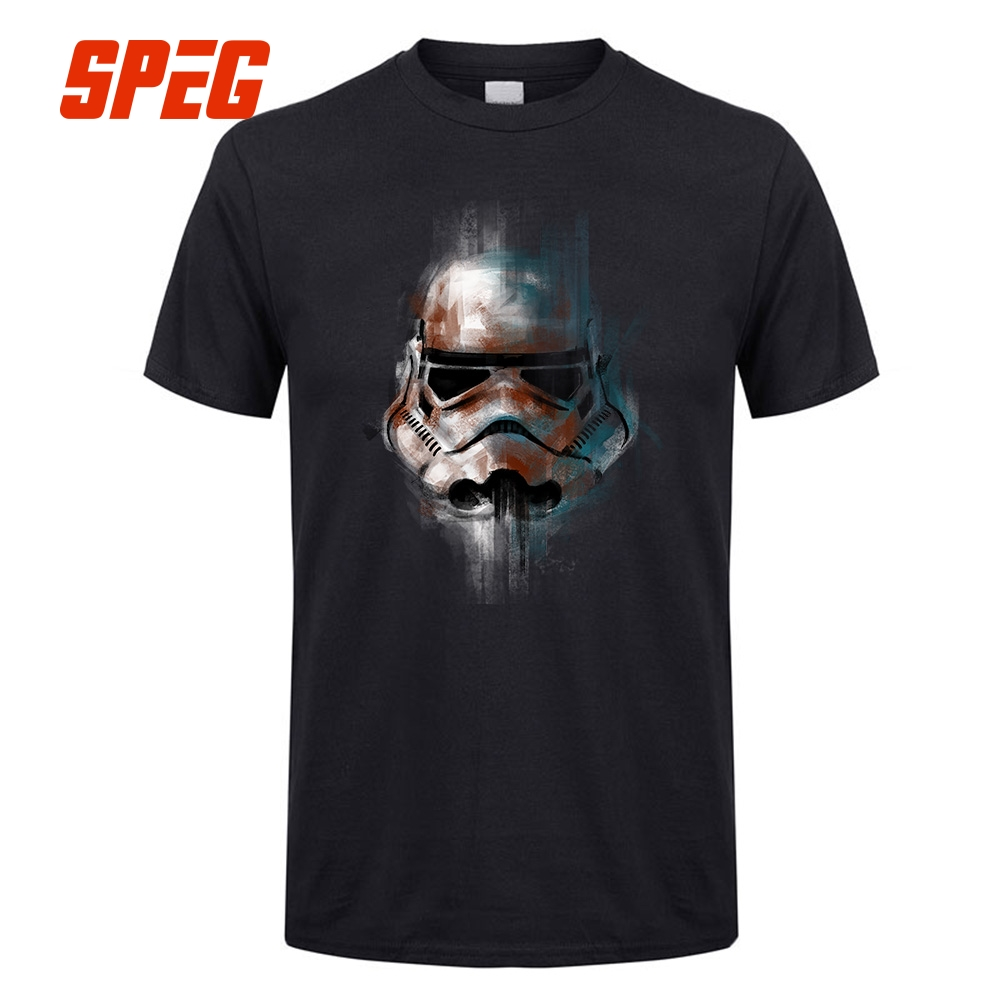 StarWars T-Shirt Man Star Wars T Shirt Men Tops Imperial Stormtrooper Short Sleeve Cotton Luxury Brand Clothing Fitness Tees