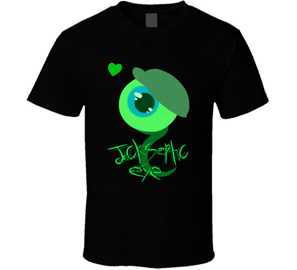 Jacksepticeye Ютубер Джек септик глаз видео Youtube футболка Для мужчин s Tee подарок Новый Для мужчин 2018 Лето шею Для Мужчин 'S футболка