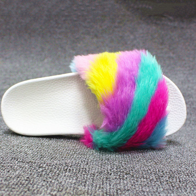 detail feedback questions about fur slippers shoes women slides