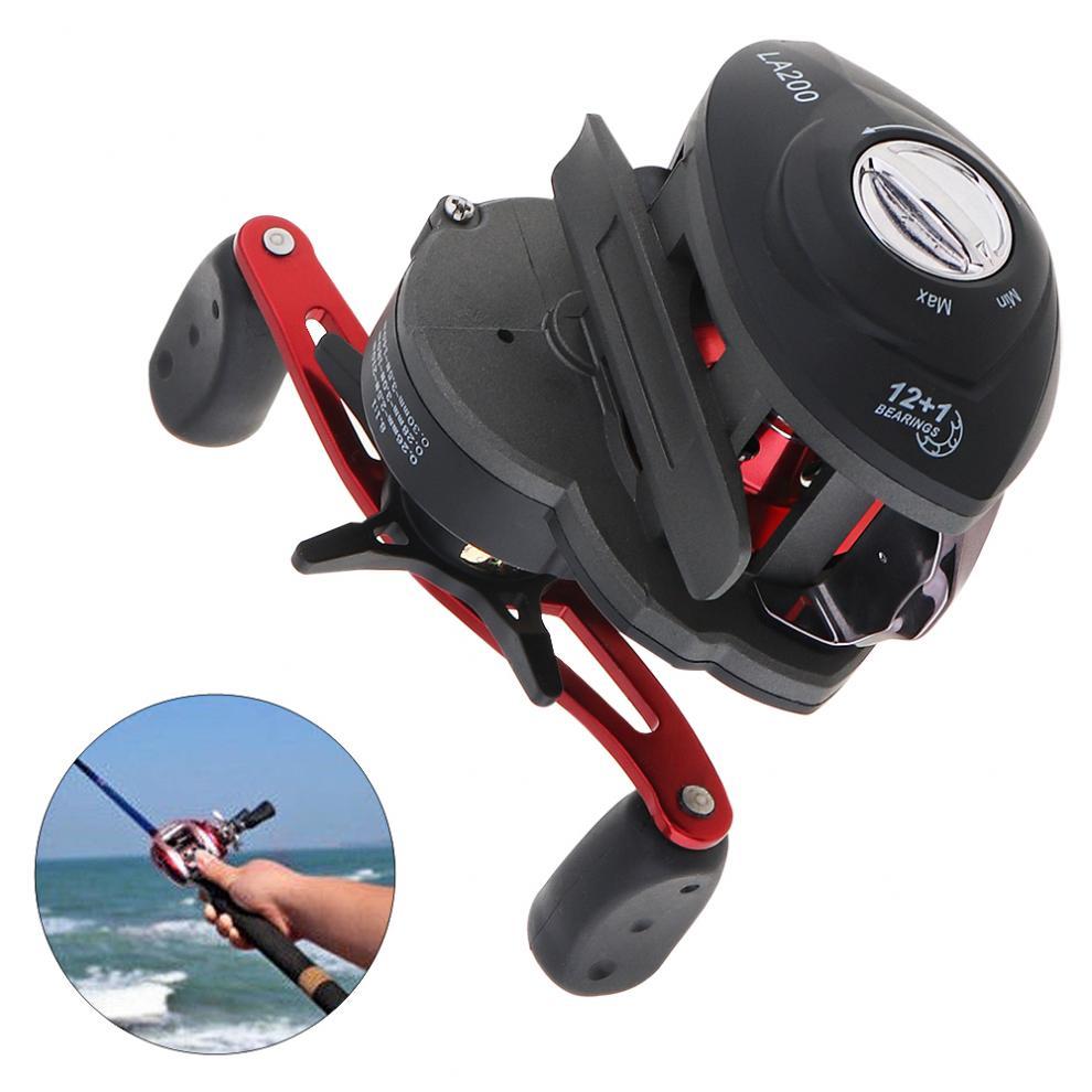 12+1BB High Speed 8.1:1 Gear Ratio Left /Right Hand Fishing Bait Casting Reel Braking Wheel