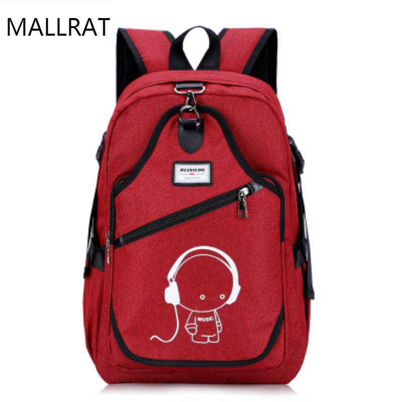 MALLRAT HOT Backpack Multifunction USB Charging Men&Women Luminou Laptop canvas Backpacks Travel Large Capacity casual Backpack large capacity backpack laptop luggage travel school bags unisex men women canvas backpacks high quality casual rucksack purse