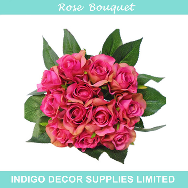 Indigo Bride Whole 50 Sets Wedding Flower Bouquet 12 Flowers Bundle Tea