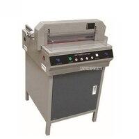 450 V + 220 V/110 V 750 W Halbautomatische Große Elektrische Papier Schneiden Maschine Trimmer Automatische Presse Hand push Papier Cutter Gerät|Schneidemaschine|   -