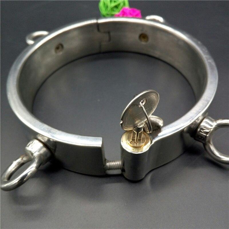 stainless steel bdsm collar