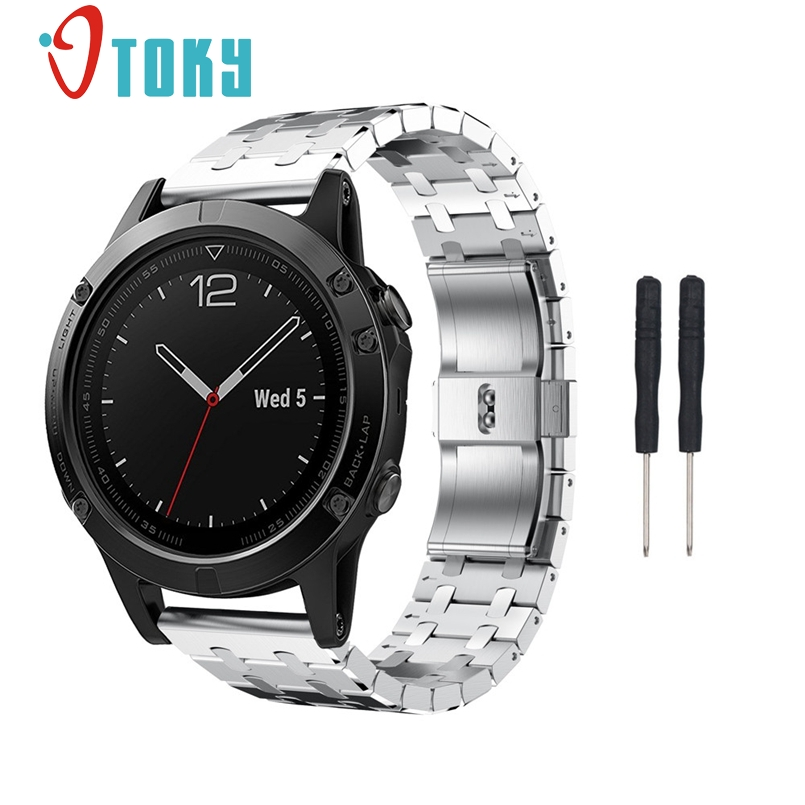 New Arrive Replacement Genuine Stainless Steel Watch Bracelet Band Strap For Garmin Fenix 5 Watch Dropship genuine stainless steel bracelet quick replacement fit band strap wristband for garmin forerunner 935 watch dignity nov 2