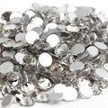 Frete Grátis! 1440 pçs/lote, ss3 (1.3-1.5mm) Cristal/Clear Plano Voltar (Nail Art) Não Cola Hot Fix em Strass